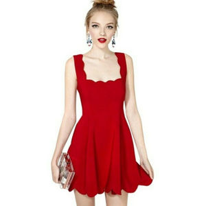 Nasty Gal I'm Yours Scallop Skater Dress